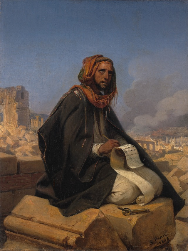 Jeremiah on the ruins of Jerusalem by Horace Vernet, 1844
